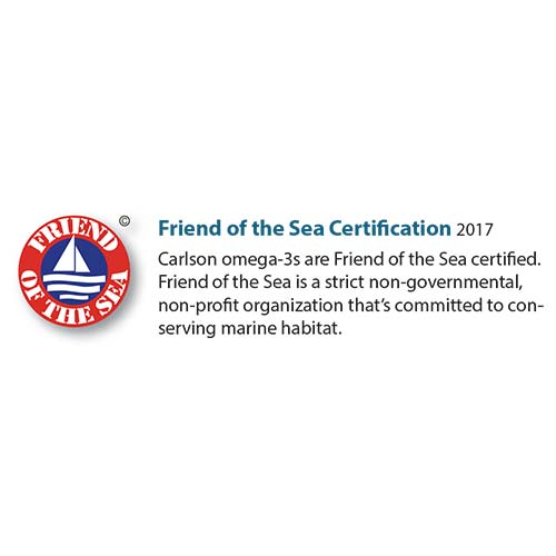 Friend of the Sea Certification - Carlson Labs
